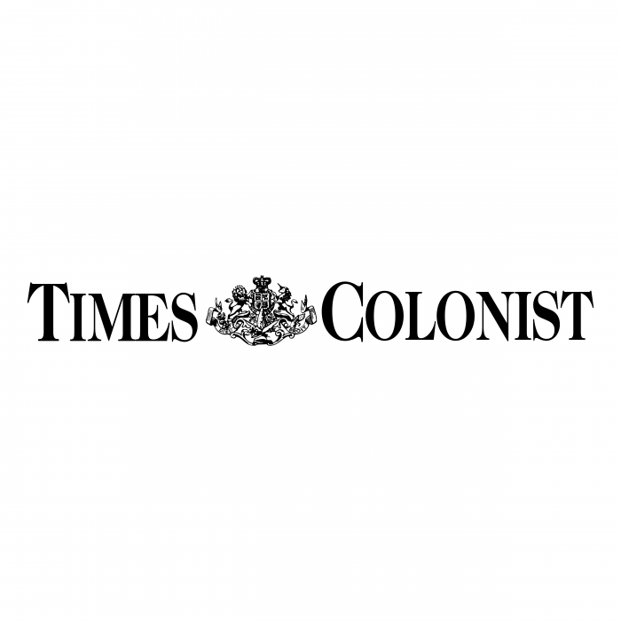 Times Colonist logo black