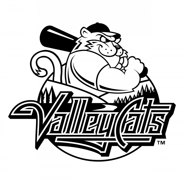 Tri City Valleycats logo black