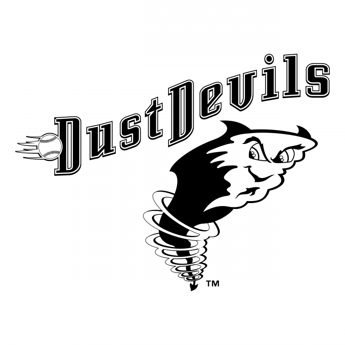 Tri City Dust Devils logo black