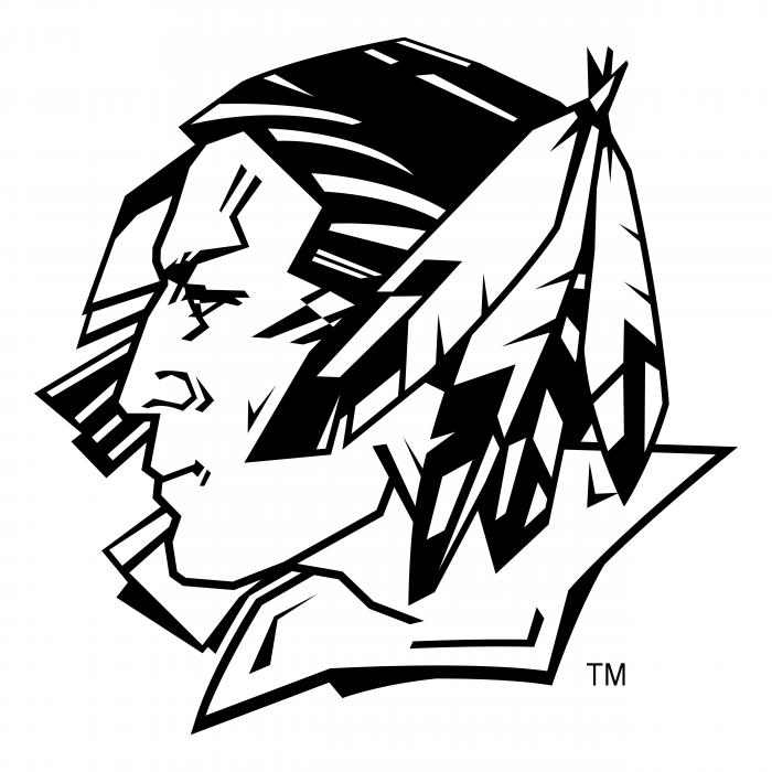 UND Fighting Sioux logo black