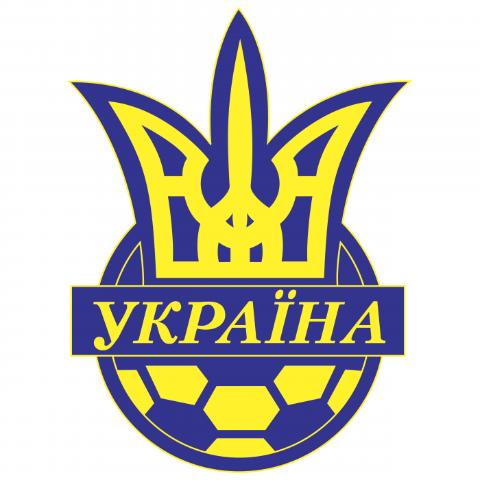 Ukraine Football Association logo blue