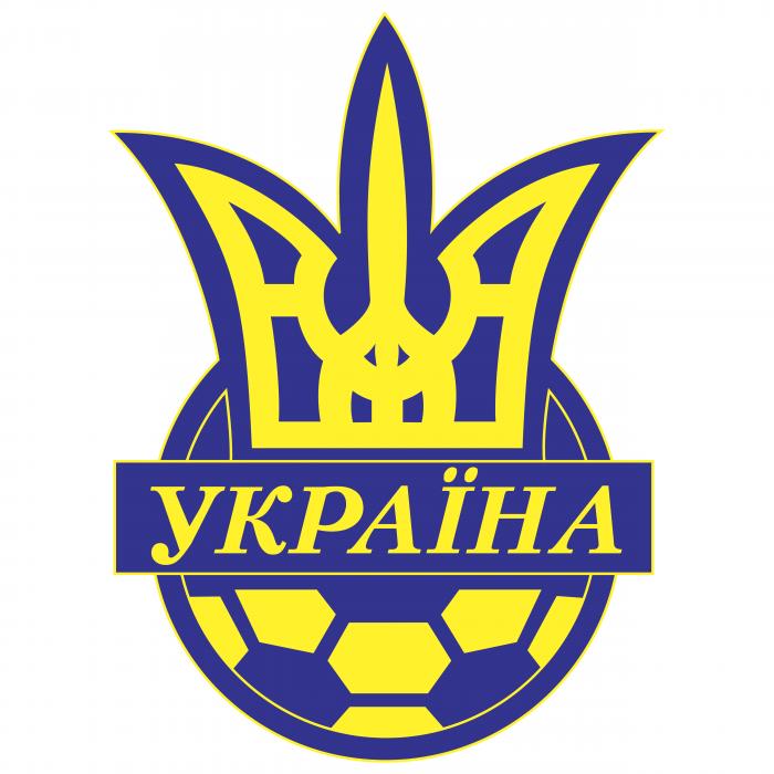 Ukraine Football Association logo blue