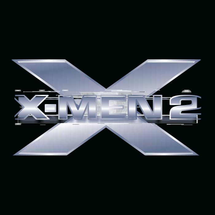 X Men logo silver