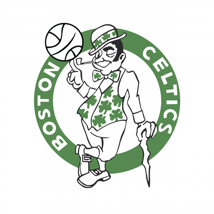 Boston Celtics logo white