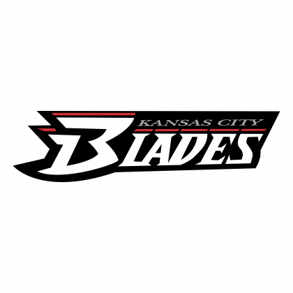 Kansas City Blades logo black