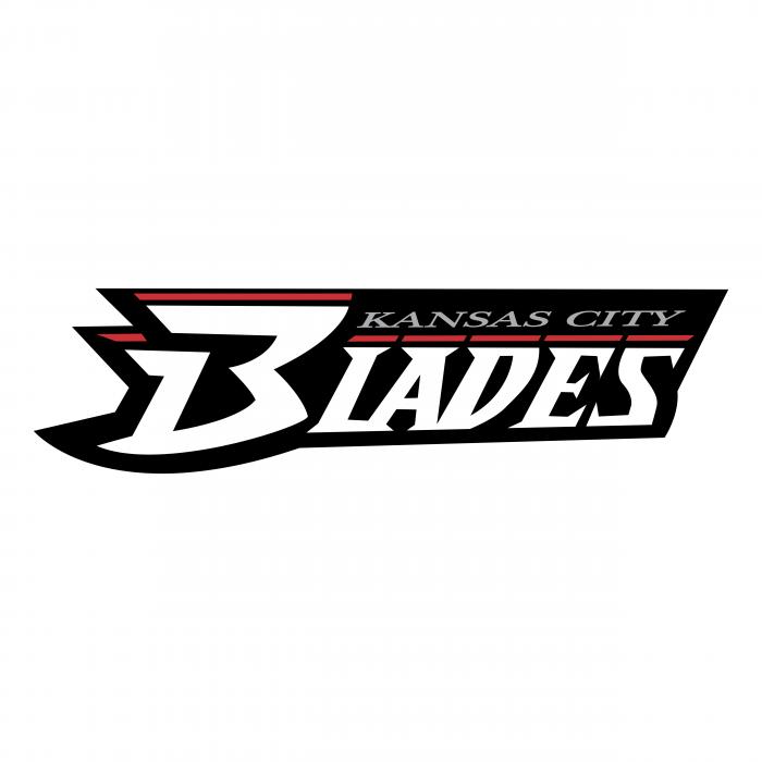 Kansas City Blades logo black