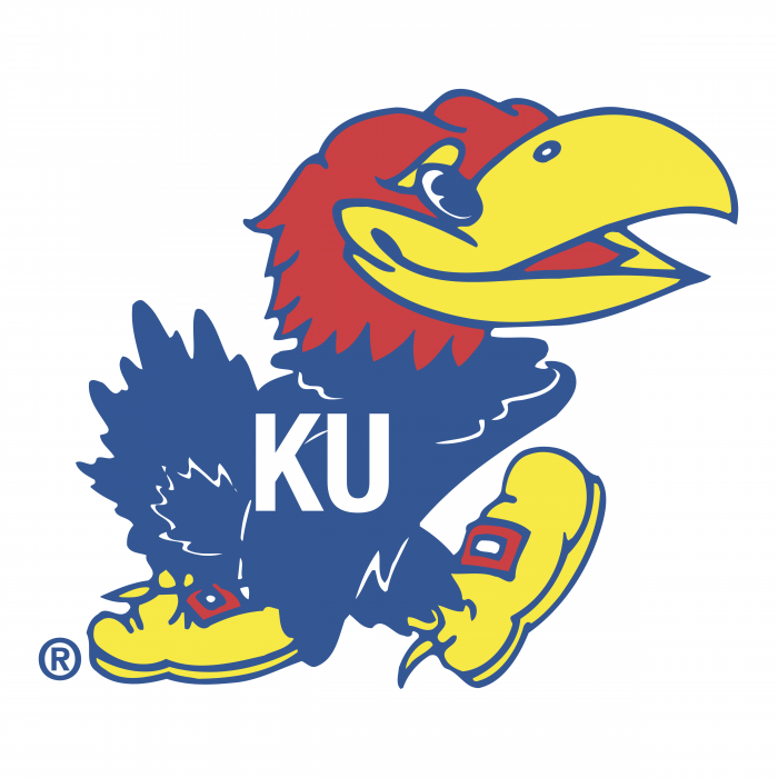 Kansas Jayhawks logo colour