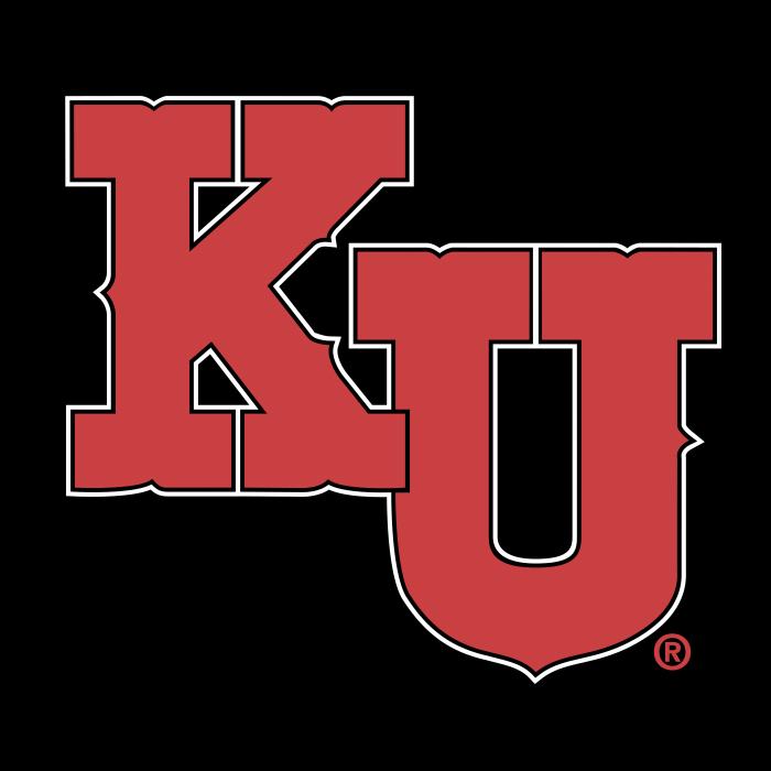Kansas Jayhawks logo cube
