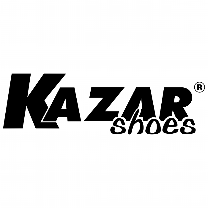 Kazar Shoes logo black