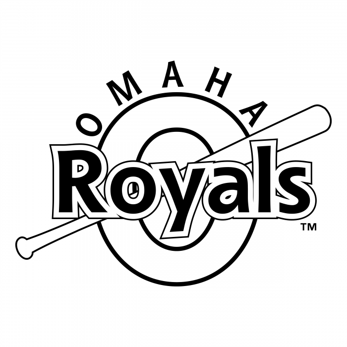 Omaha Royals logo black