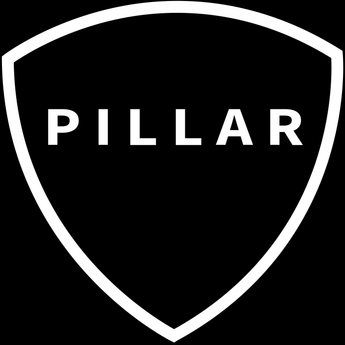 Pillar logo coin