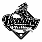 Reading Phillies logo black