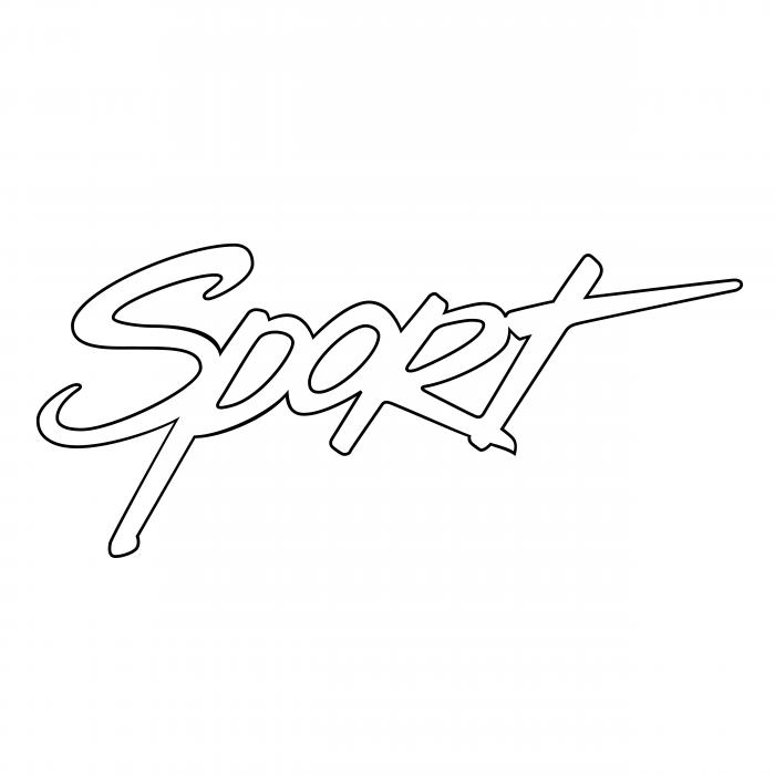 Sport logo white