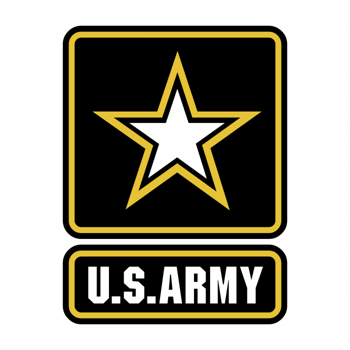 US Army logo yellow