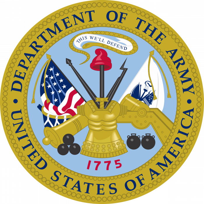 US Department of the Army logo cercle