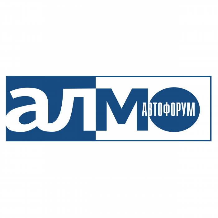 Almo Avtoforum logo blue