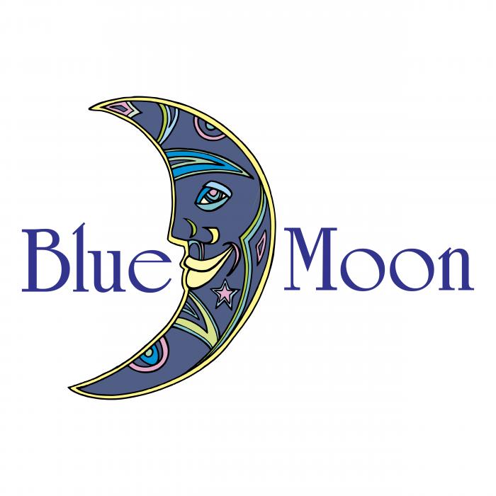 Blue Moon logo blue