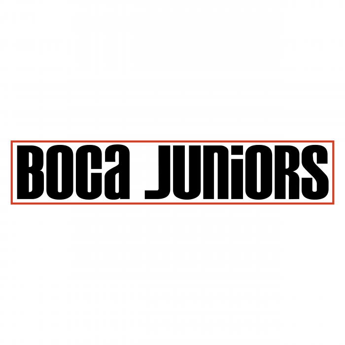 Boca Juniors logo black
