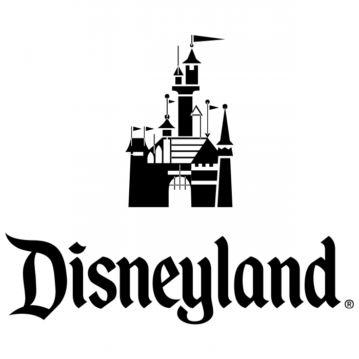 Disneyland logo black