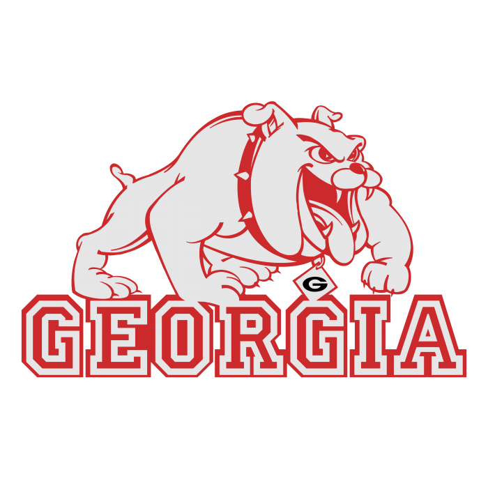 Georgia Bulldogs logo red