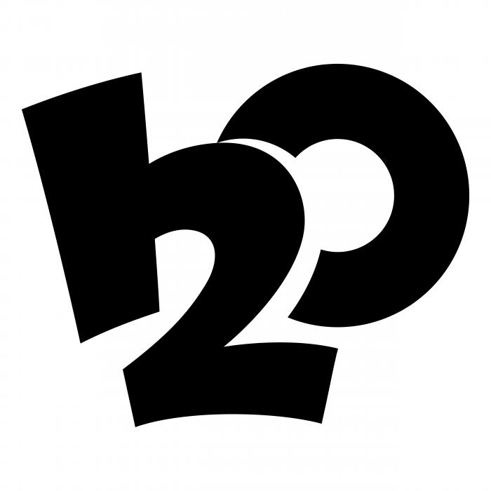H2O logo black