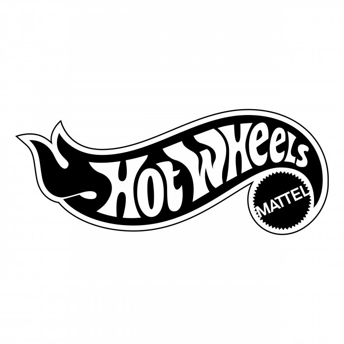 Hot Wheels logo white