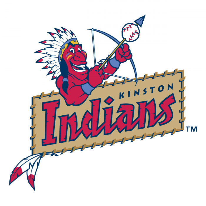 Kinston Indians logo colour