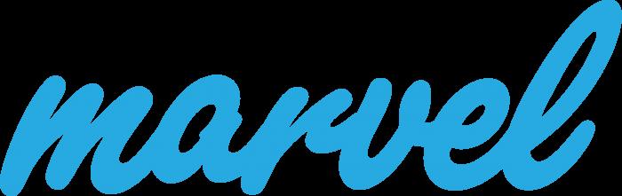 Marvel logo blue