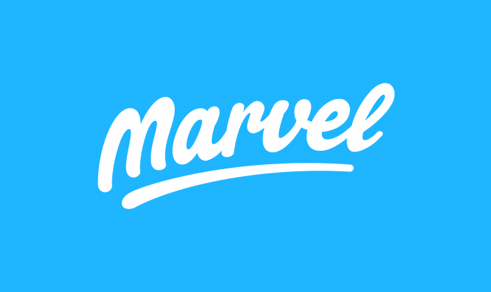 Marvel logo white