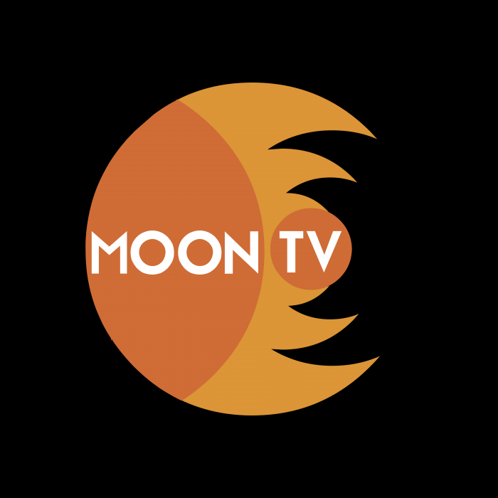 Moon TV logo pink
