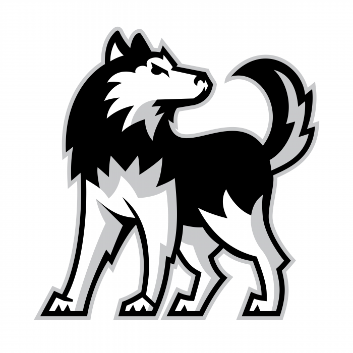 NIU Huskies logo dog