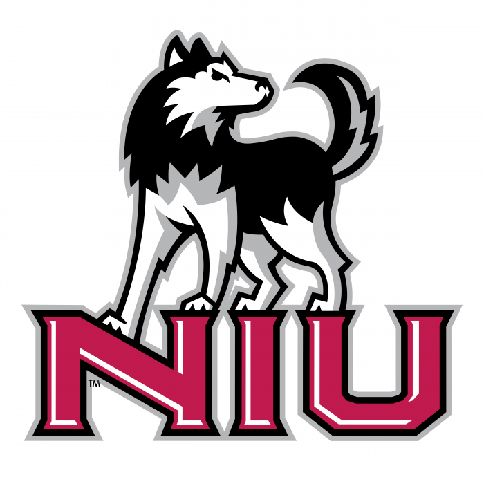 NIU Huskies logo red