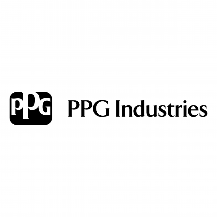PPG Industries logo black