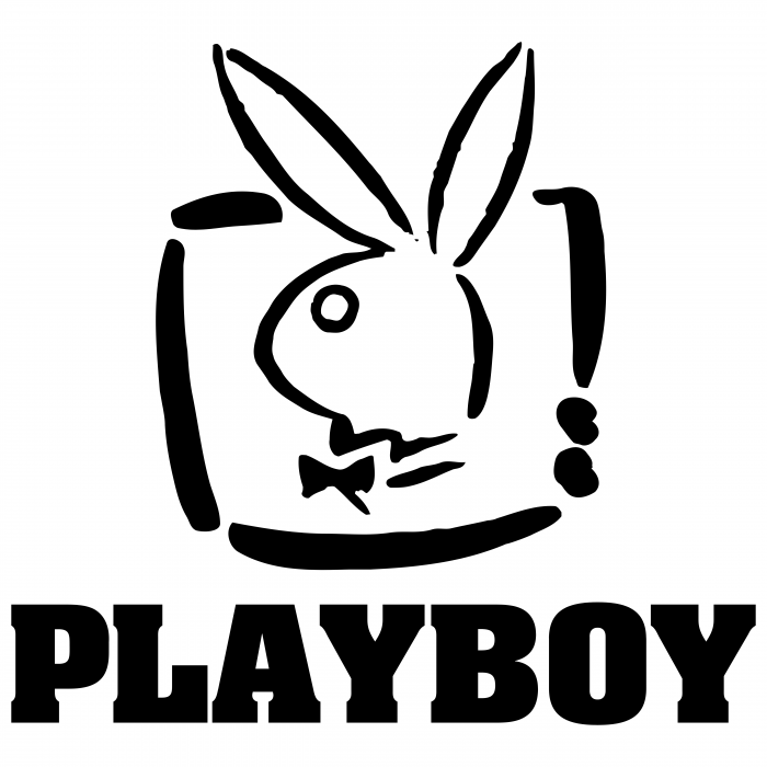 Playboy logo white