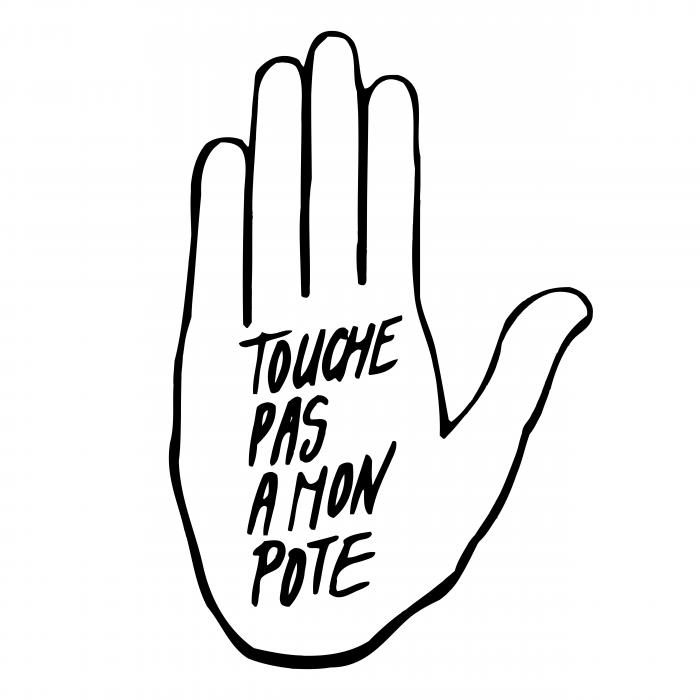 Touche Pas A Mon Pote logo hand
