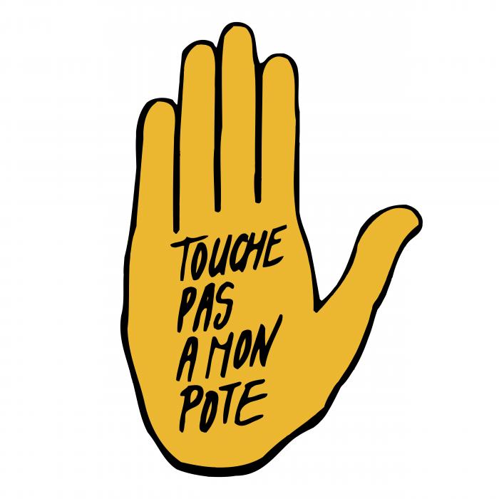 Touche Pas A Mon Pote logo pink