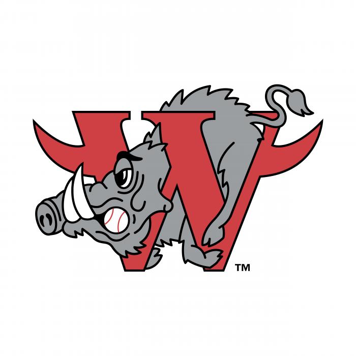 Winston Salem Warthogs logo red