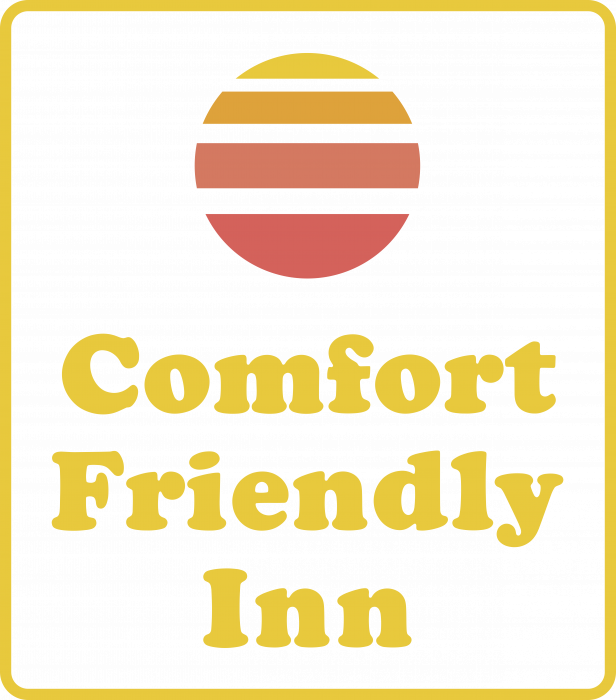 Comfort Friendly Inn logo pink