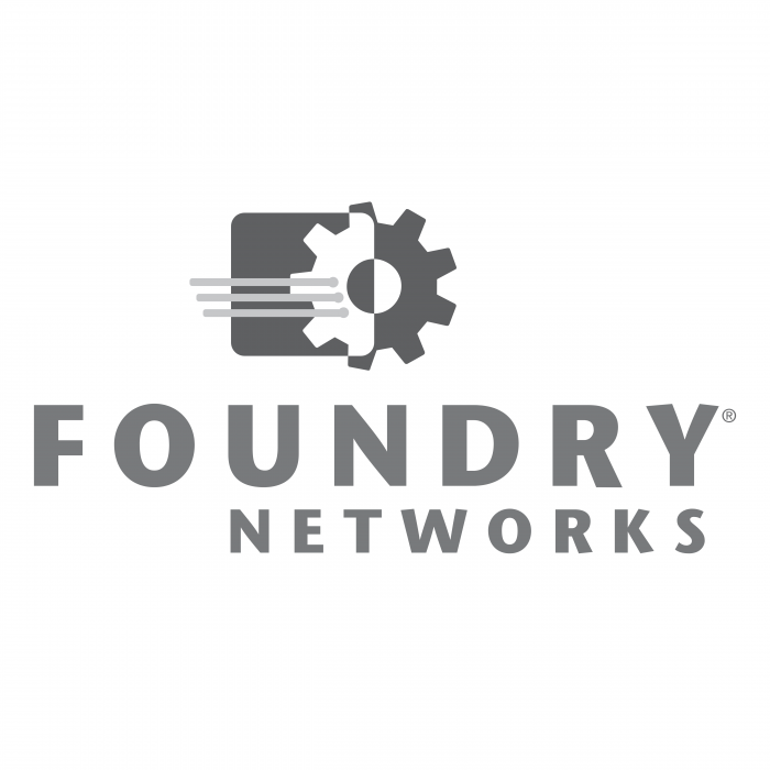 Foundry Networks logo grey