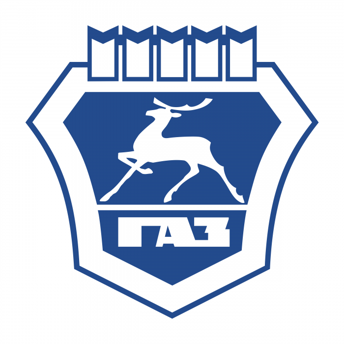 GAZ logo blue