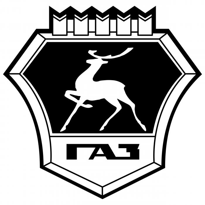 GAZ logo white