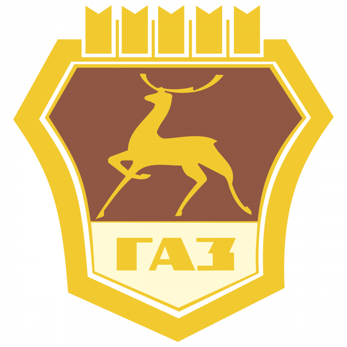 GAZ logo yellow