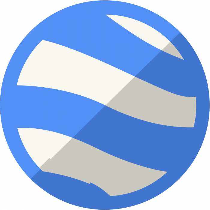 Google Earth logo blue