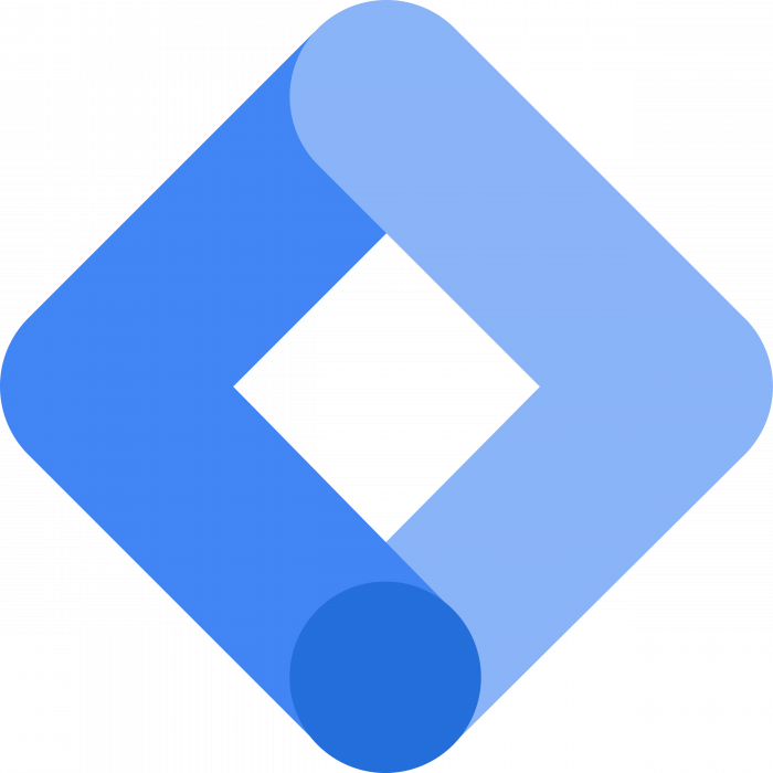 Google Tag Manager logo blue