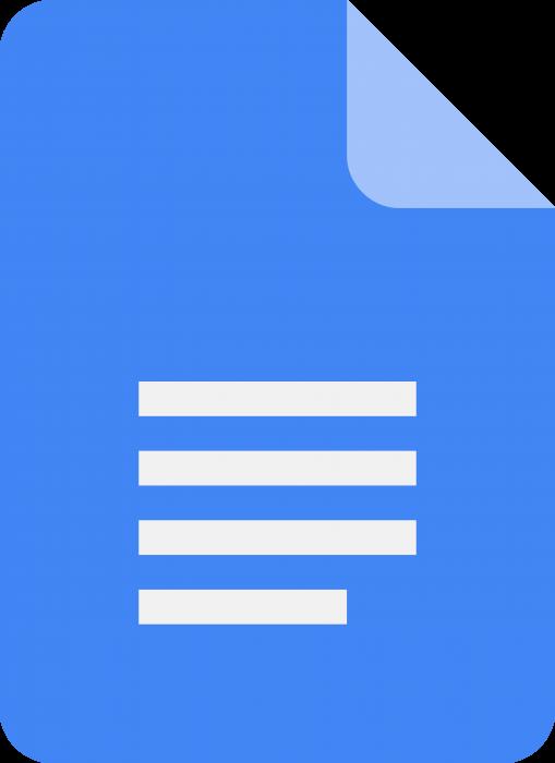 Google logo docs