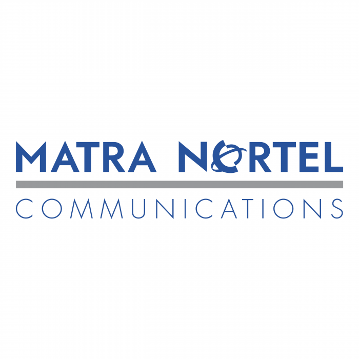 Matra Nortel Communications logo blue