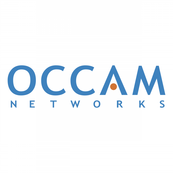 Occam Networks logo blue