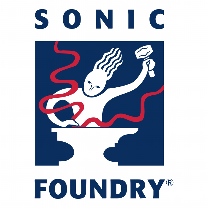Sonic Foundry logo blue