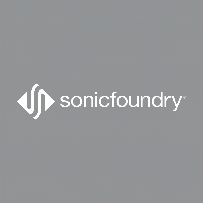Sonic Foundry logo grey