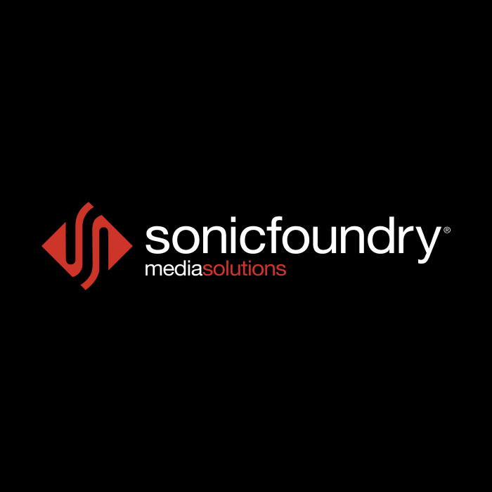 Sonic Foundry logo red